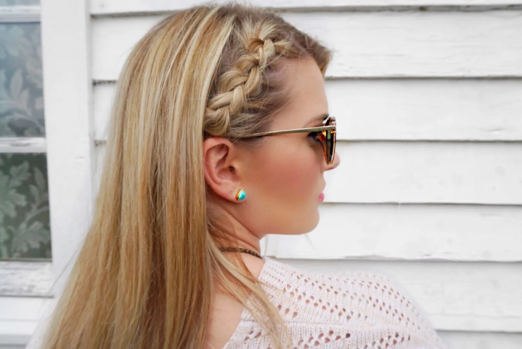 mini half dutch crown braid festival braid hair style