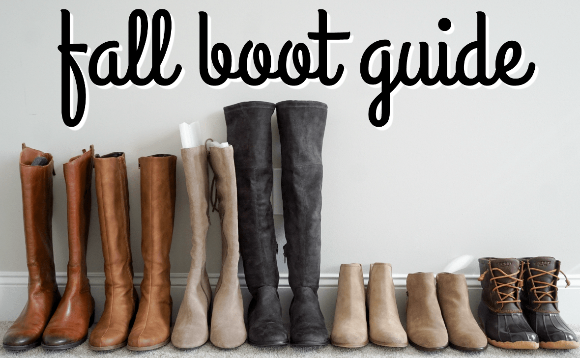 women's fall boot guide: my favorite boots 2017