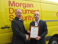 Information Security Management Award for Morgan Document Security