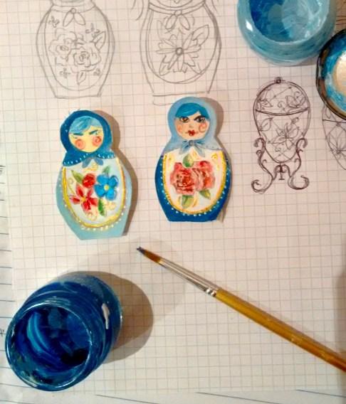 Quelques essais pour le choix des poupées russes.