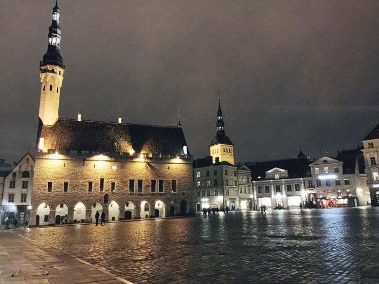 La magnifique vieille ville médiévale de Tallinn.