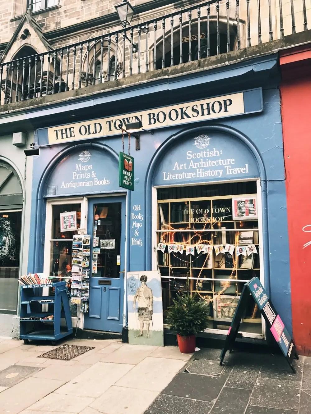 Old town bookshop Edimbourg