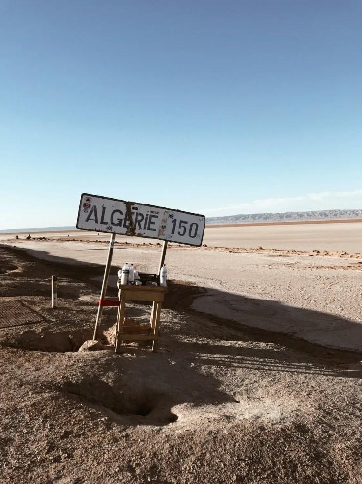 Paysage chott el jerid frontière algerie