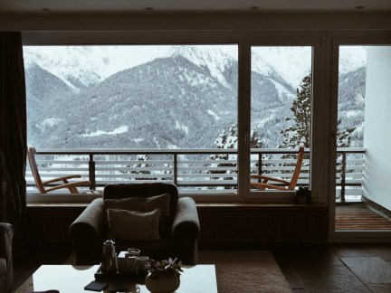Hotel Paradies Ftan chambre vue