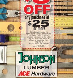 johnson lumber ace hardware 5 off 25 or more coupon [ 1388 x 2288 Pixel ]
