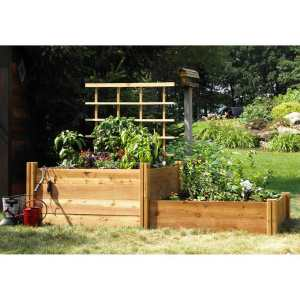 cedarwood raised bed boxes