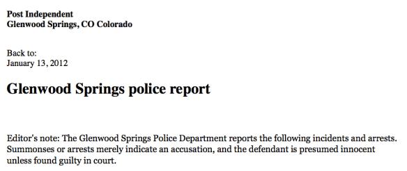 Morgan County Colorado Arrests