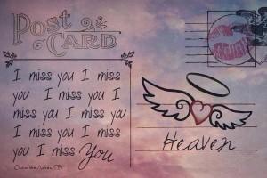 Valentine Post CardI Miss You Morgans Stalking
