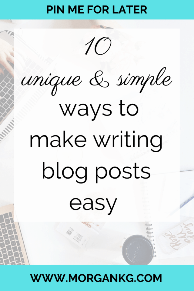 So you need to write blog posts in the most efficient way possible, but you aren't sure where to begin to write blog content? This is exactly how you write content for your blog the easy way in 2020. Click over to find out 10 tips to make writing blog posts easy!