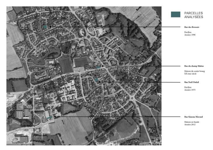 Analyse modèle pavillonnaire_Localisation des parcelles étudiées