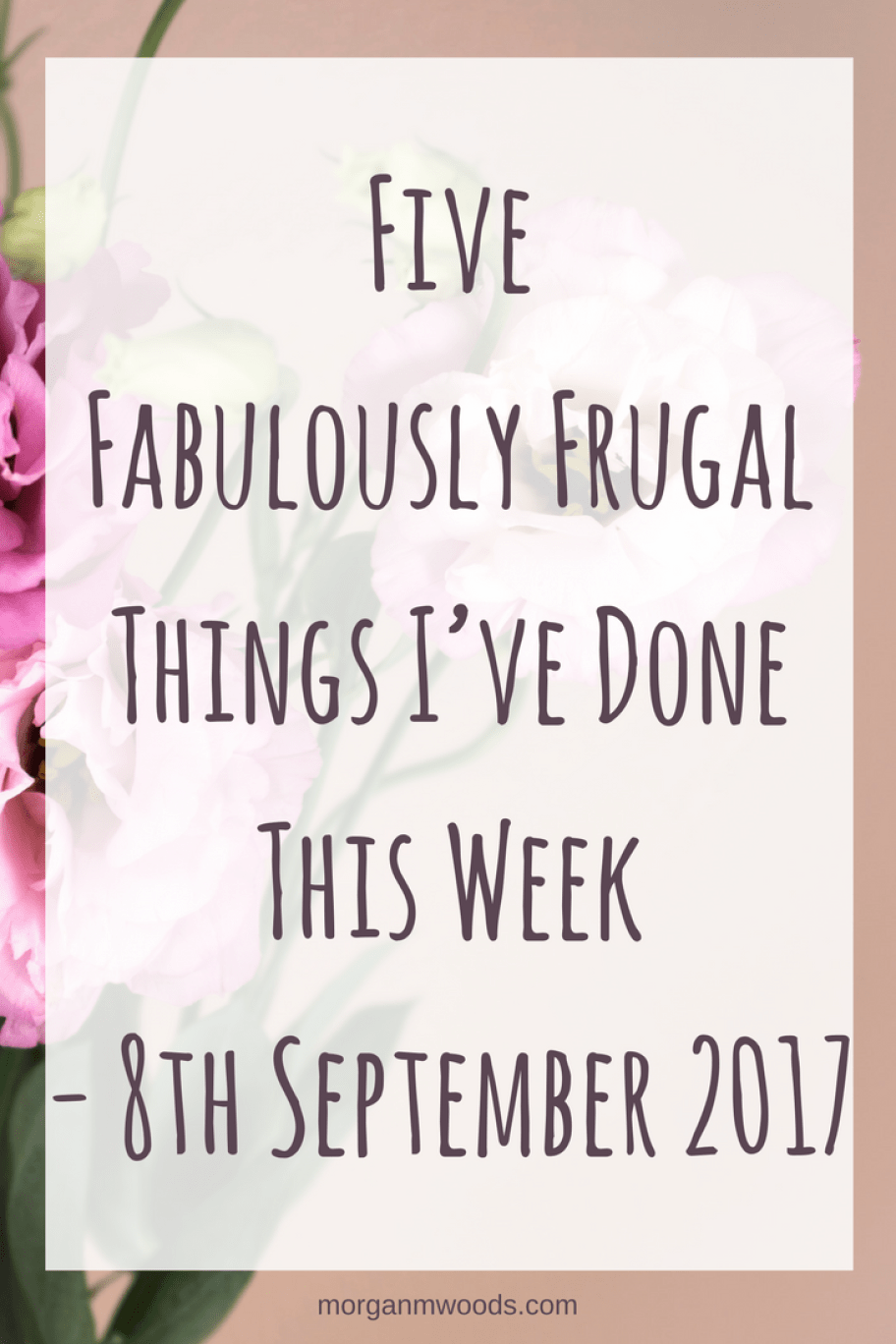 Five Fabulously Frugal Things I've Done This Week - 8th September 2017