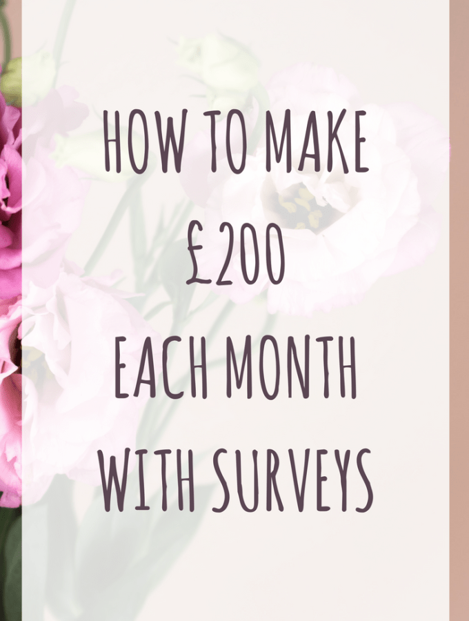 How to make £200 each month with surveys