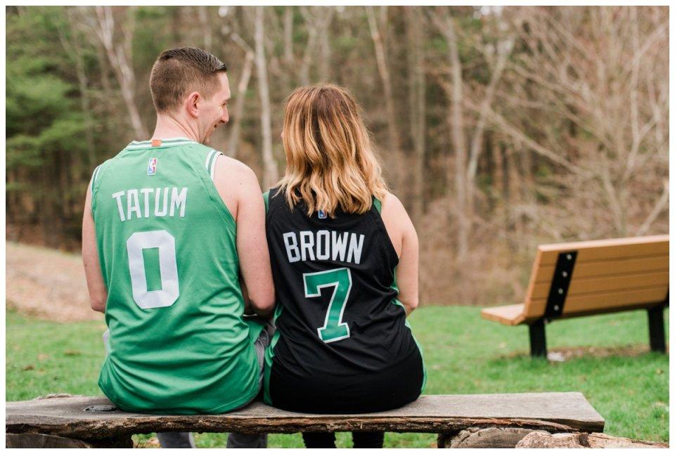 boston celtics jersey engagement photos