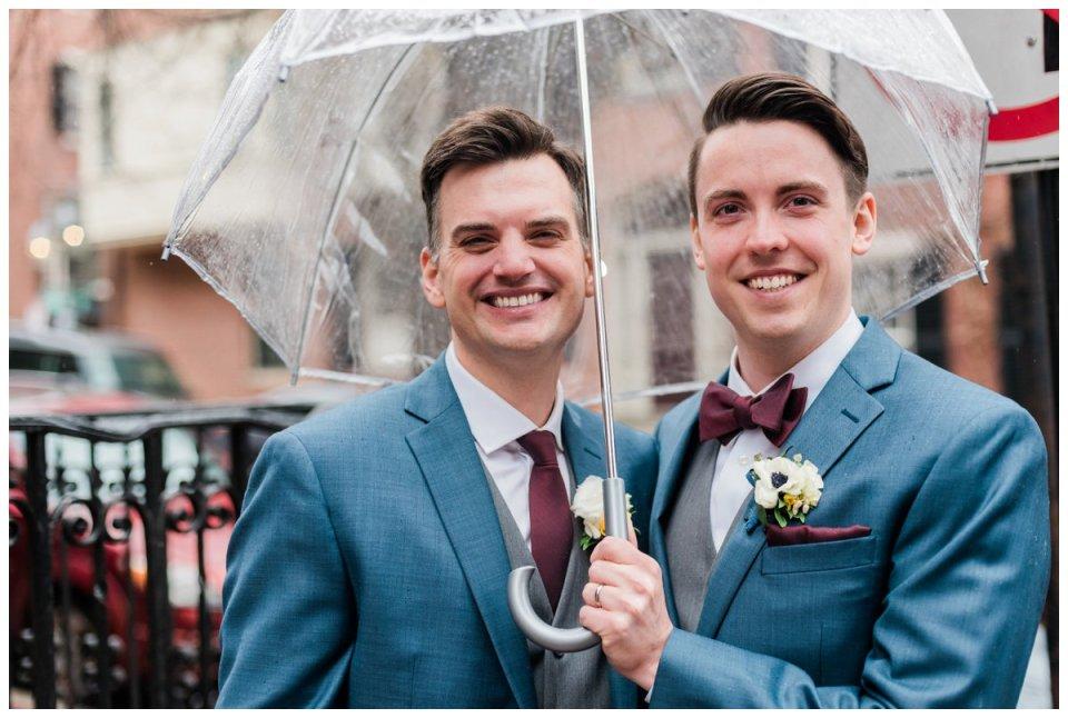 rainy day wedding portraits in beacon hill boston