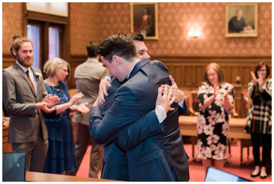 same sex elopement at cambridge city hall