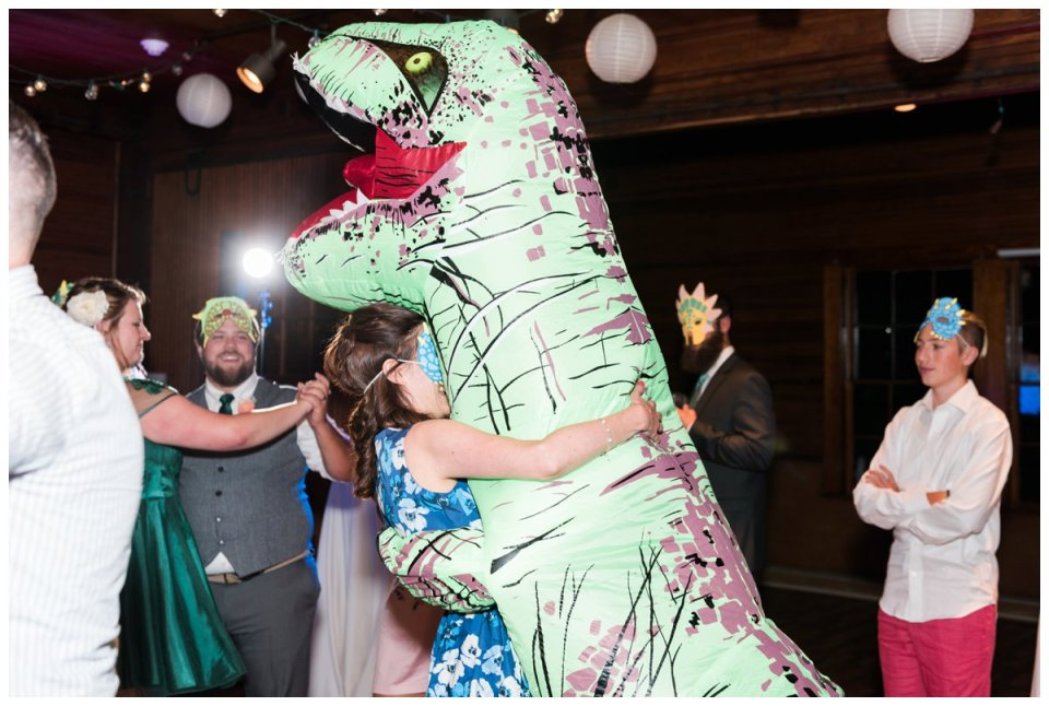 trex wedding photo dinosaur themed wedding