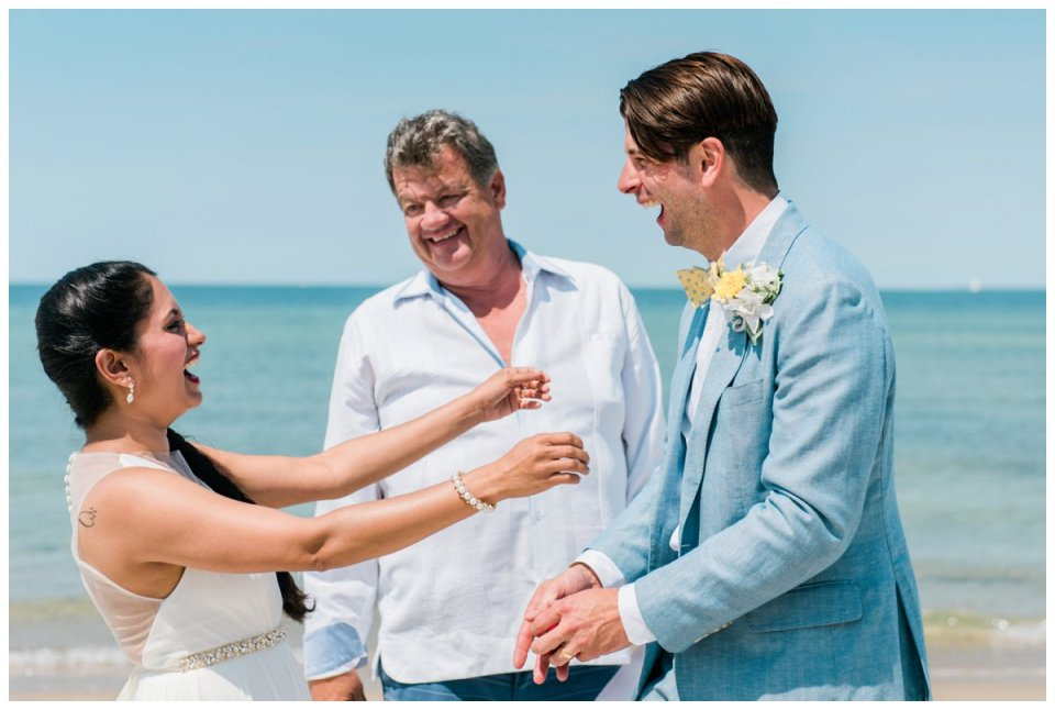 intimate falmouth beach wedding elopement
