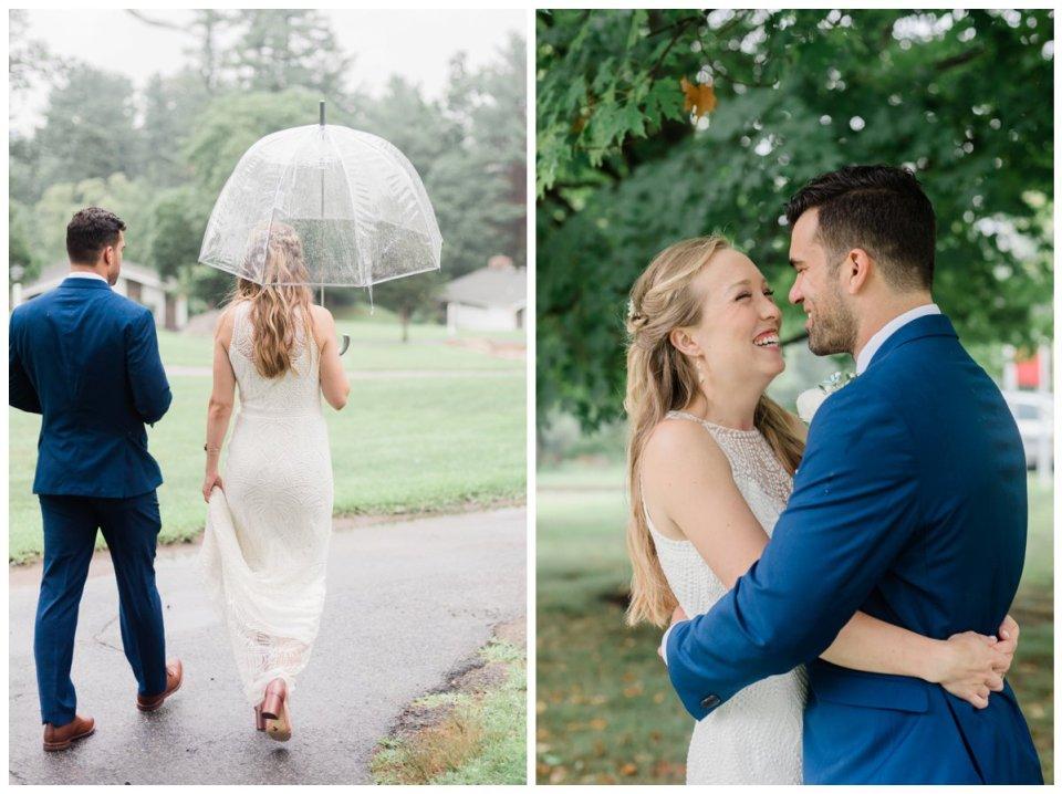 Ashland MA happy wedding couple under tree