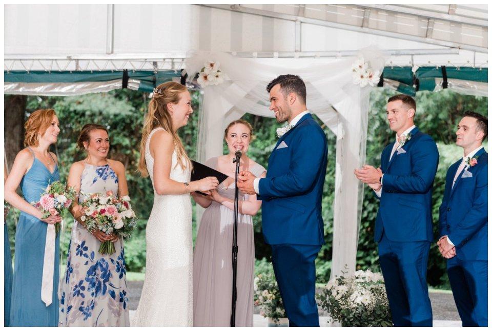 Ashland MA bride and groom ceremony