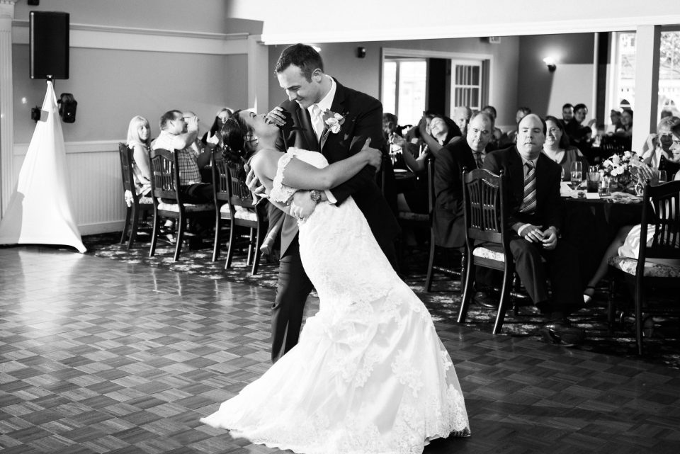 first dance bride and groom at tj smith's victorian house in east bridgewater MA