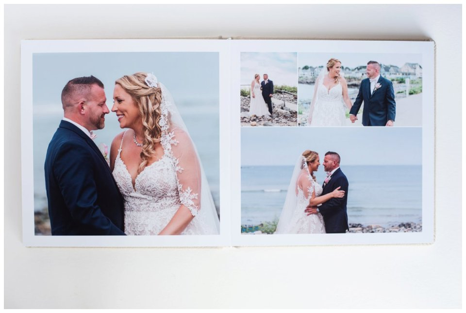 leather wedding album by boston wedding photographer