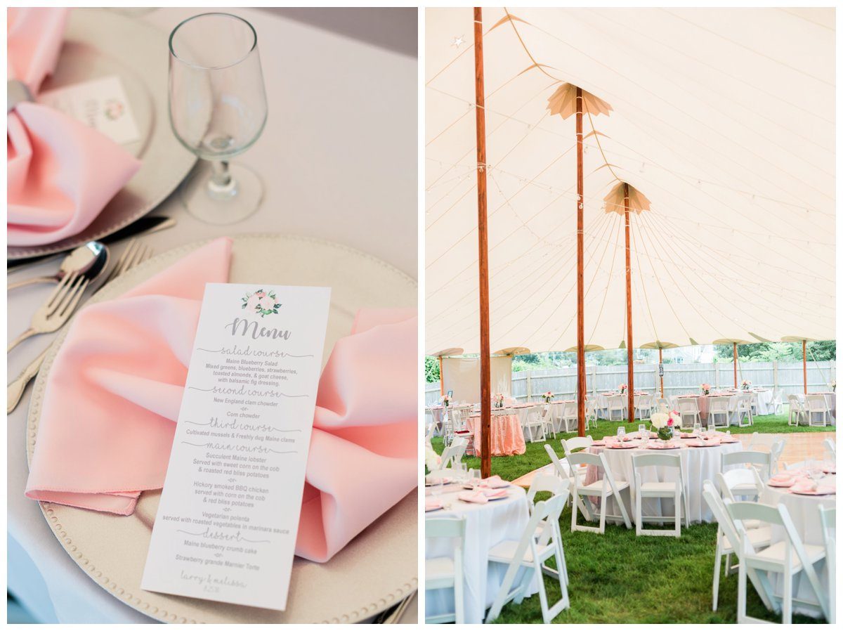 viewpoint hotel wedding reception under sperry tent
