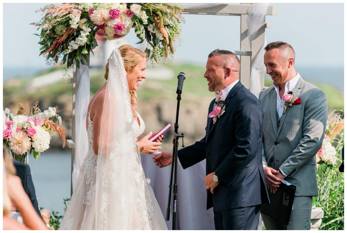 viewpoint hotel wedding ceremony outdoor overlooking water
