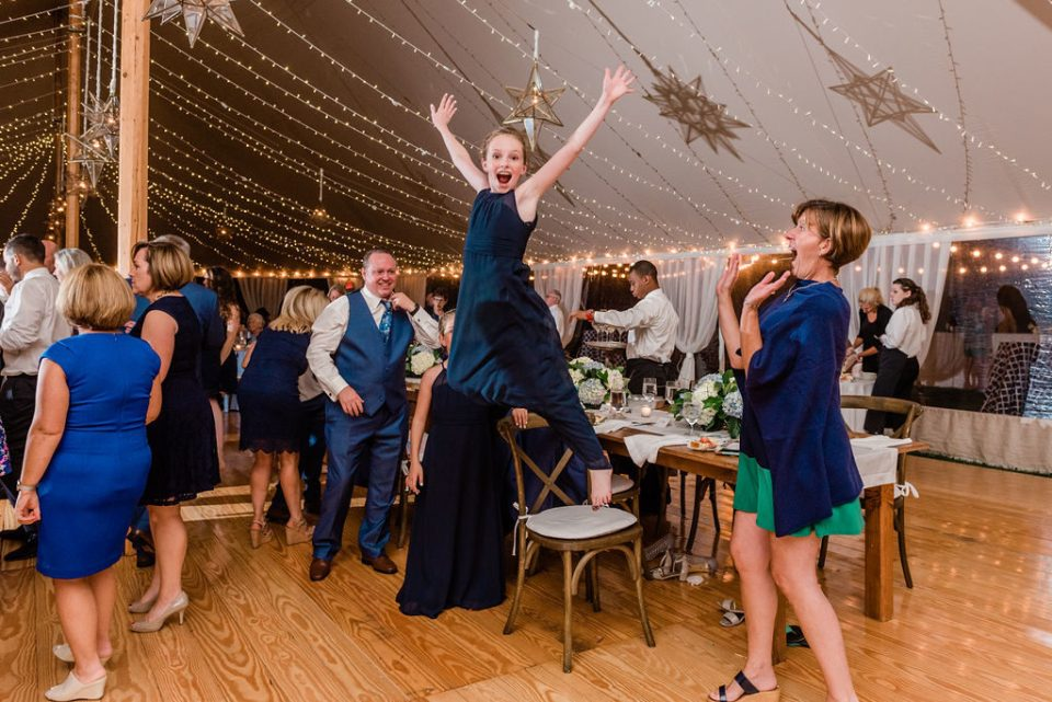 dancing for joy at wedding