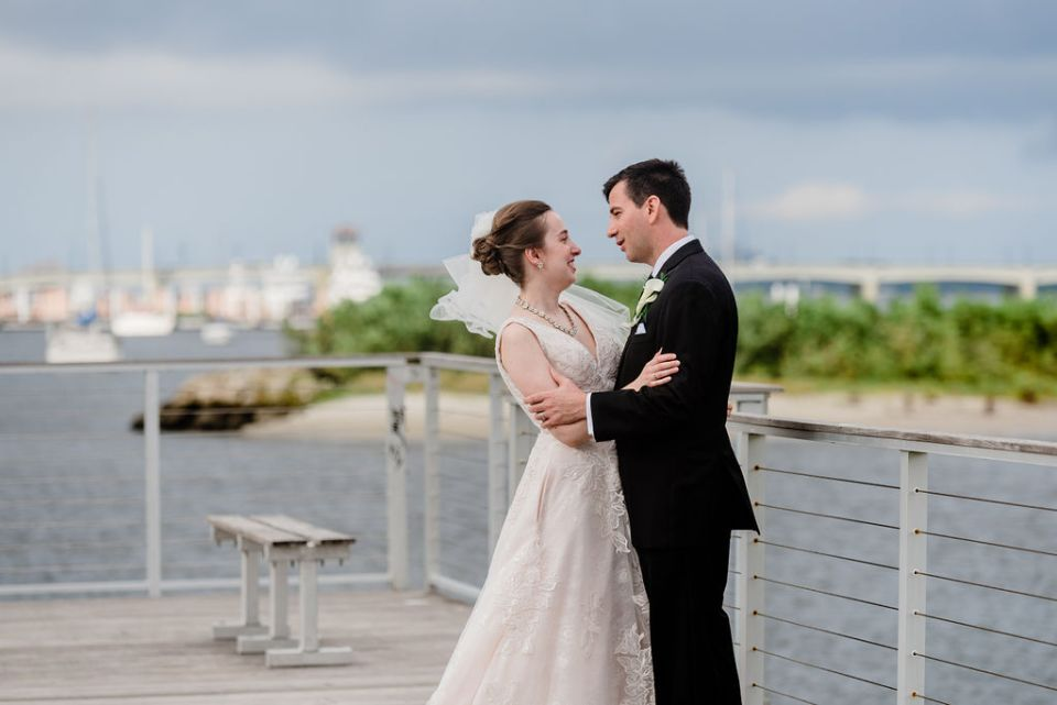 Some quiet moments after the wedding Palm Beach intercoastal