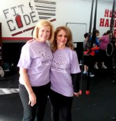 Members have fun while they Work Out to Wipe Out Domestic Violence.