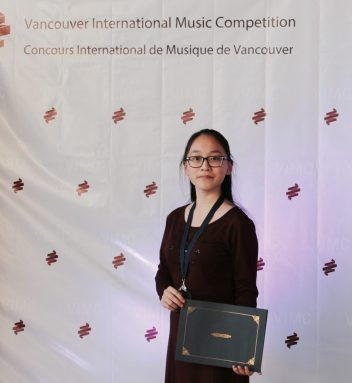 Sue Wang, Silver Medalist at the Vancouver International Music Competition 2017, Young Artists category