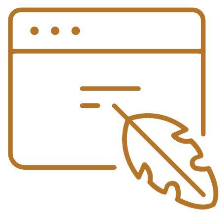 Icone services webmarketing rédaction web