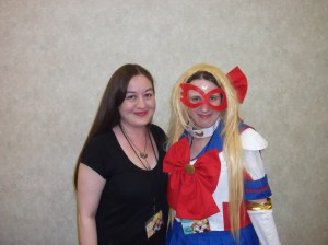 Me with the amazing Ms. Harp.  DANG MY WIG! >.<