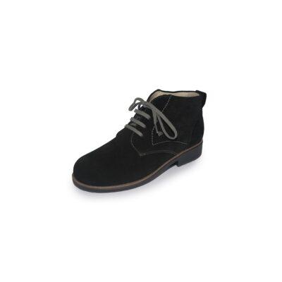 Cranston Black Suede Leather