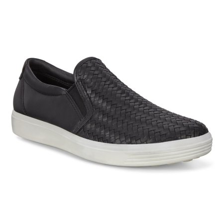 Soft 7 Woven Slip-On Black