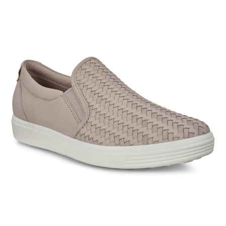 Soft 7 Woven Slip-On Grey/Rose