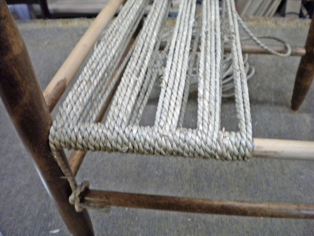 rope bottom chair wedding covers shropshire how to weave a with expert event