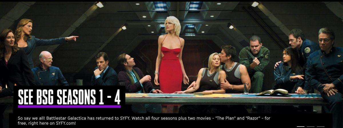 Battlestar Galactica. Copyrighted SYFY.com