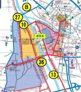 予約抽選駐車場Map