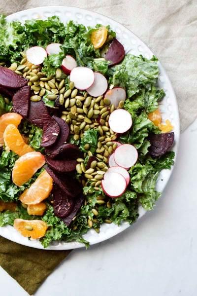 Honey Beet and Satsuma Kale Salad