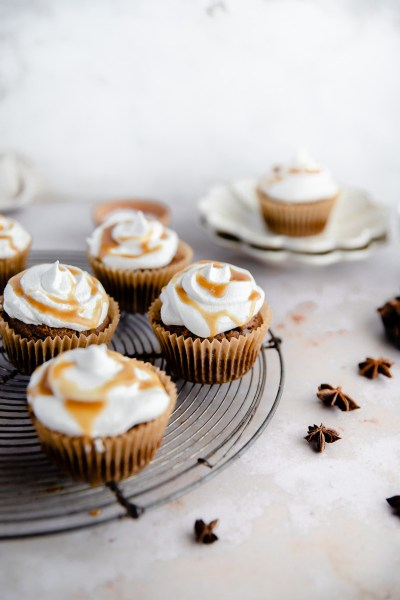 Paleo Chai Spiced Cupcakes (Grain Free, Nut Free)