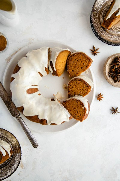 Sweet Potato Gingerbread Bundt Cake (Paleo, Gluten Free)
