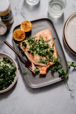 Roasted Salmon with Horseradish Gremolata