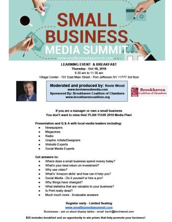 Small Business Media Summit @ Village Center - 3rd Floor | Port Jefferson | New York | United States