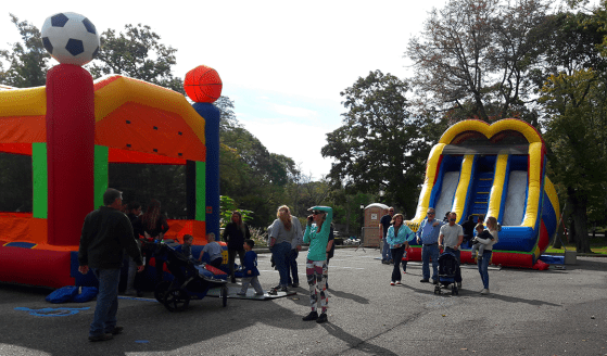 Inflatable slide at the Center Moriches Fall Fair