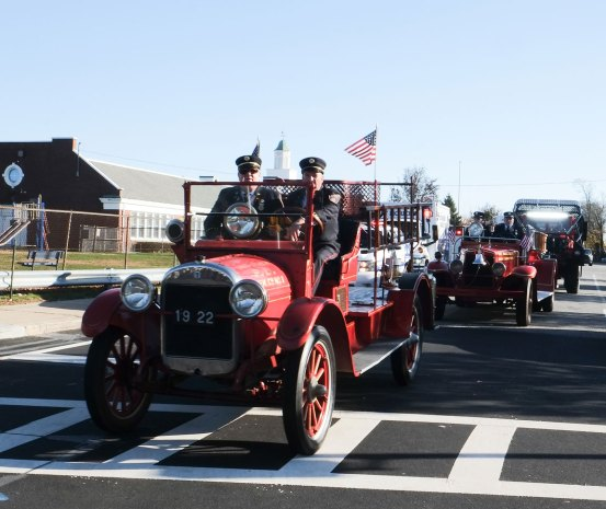 Center Moriches antique fire trucks - 2018 East Moriches Veterans Day Parade