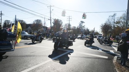motorcycle honor guard - 2018 East Moriches Veterans Day Parade