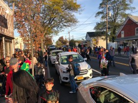 March of the Goblins, Halloween, Center Moriches: full street