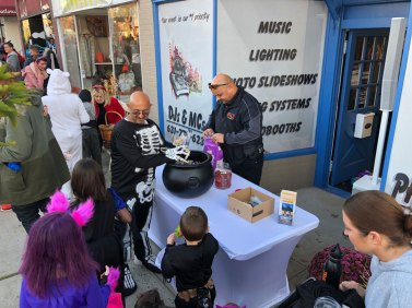 March of the Goblins, Halloween, Center Moriches: trick-or-treaters
