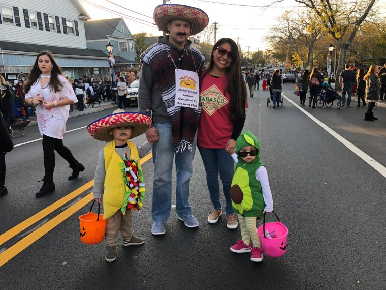 March of the Goblins, Halloween, Center Moriches: taco costumes